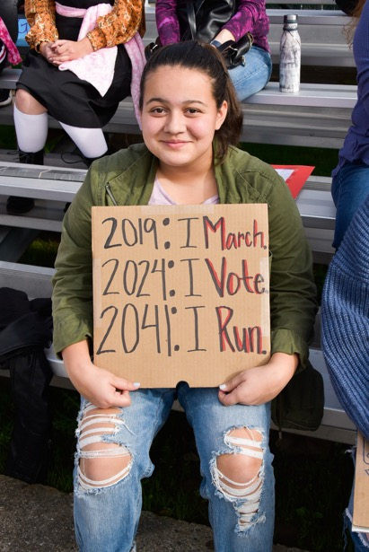 i march ... i vote ... i run